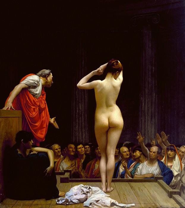 A Roman Slave Market. Jean-Léon Gérôme