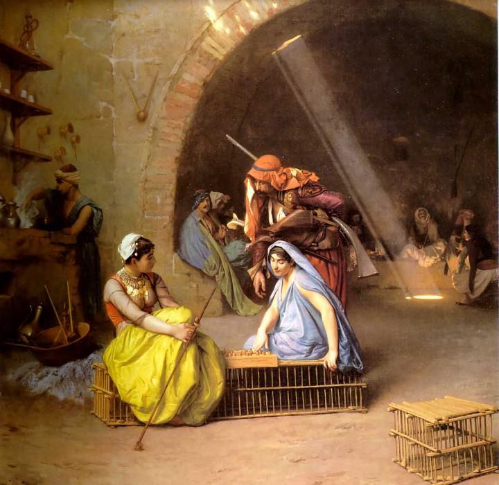 Танцовщицы, играющие в шахматы в кафе. Жан-Леон Жером