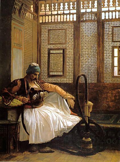 Arnaut smoking. Jean-Léon Gérôme