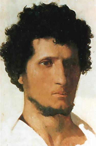 Head of a Peasant of the Roman Campagna. Jean-Léon Gérôme