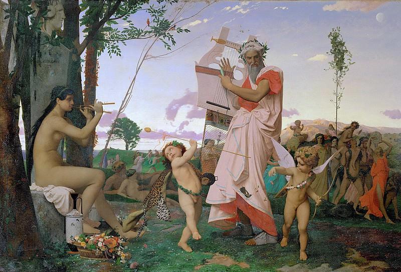 Anacreon, Bacchus and Amour. Jean-Léon Gérôme