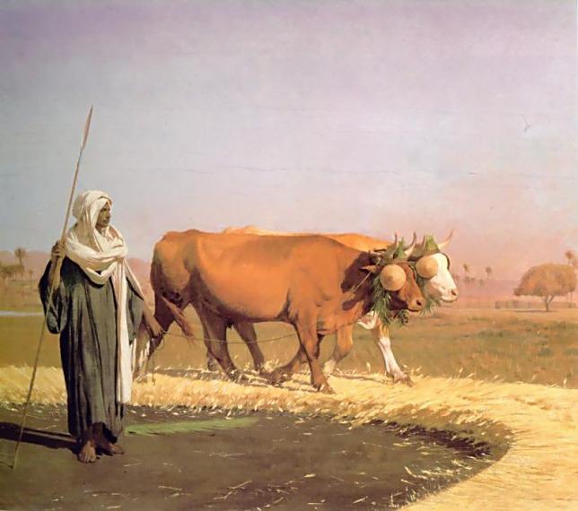 Treading out the Grain in Egypt. Jean-Léon Gérôme