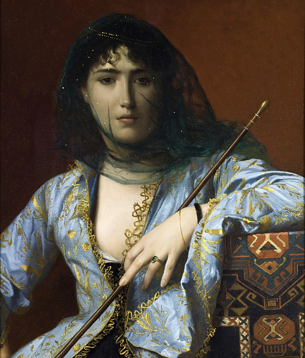 Veiled circassian beauty. Jean-Léon Gérôme