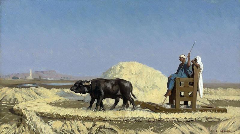 EGYPTIAN GRAIN-CUTTERS. Jean-Léon Gérôme