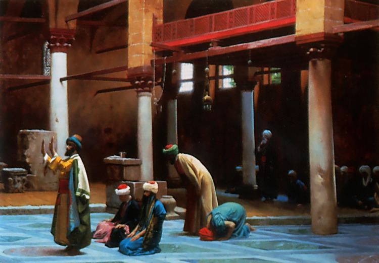 Prayer in the Mosque. Jean-Léon Gérôme