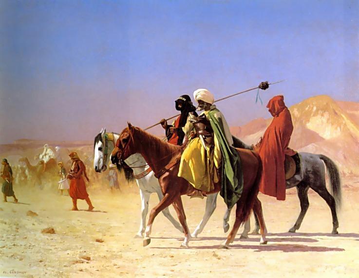 Arabs crossing the Desert. Jean-Léon Gérôme