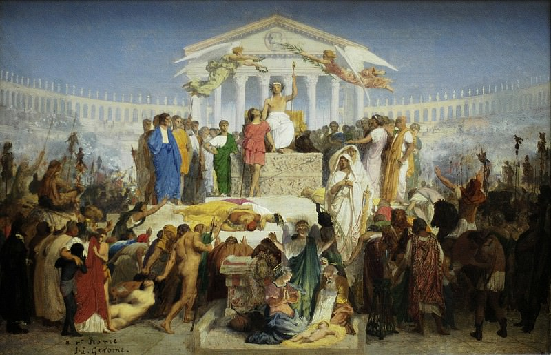 The age of Augustus, the Birth of Christ. Jean-Léon Gérôme