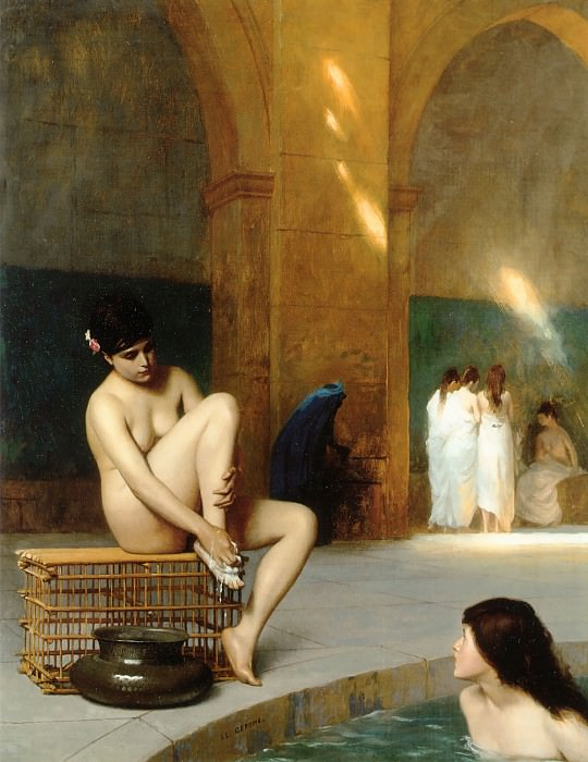 FEMMES AU BAIN. Jean-Léon Gérôme