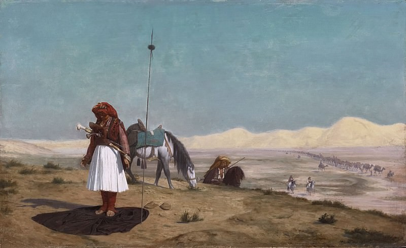 Prayer in the Desert. Jean-Léon Gérôme