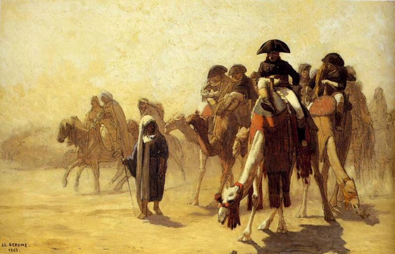 Наполеон с генеральным штабом в пустыне (эскиз). Жан-Леон Жером