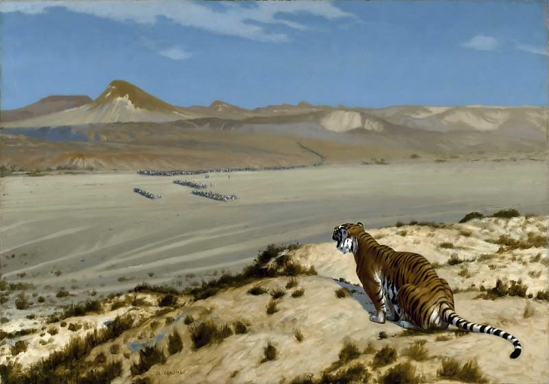 Tiger on the Watch. Jean-Léon Gérôme