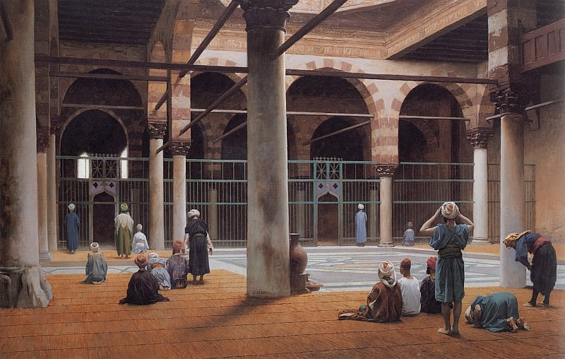 Interior of a Mosque. Jean-Léon Gérôme
