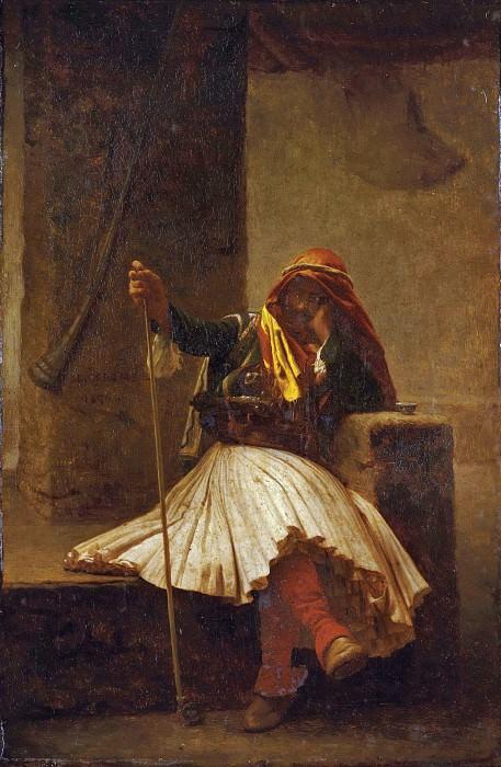 Arnaute drinking. Jean-Léon Gérôme