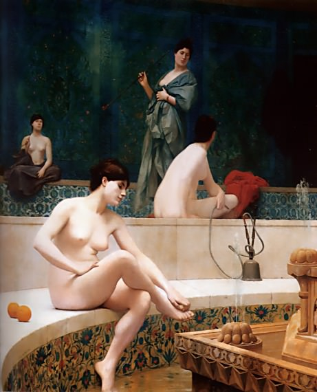 The Harem Bath. Jean-Léon Gérôme