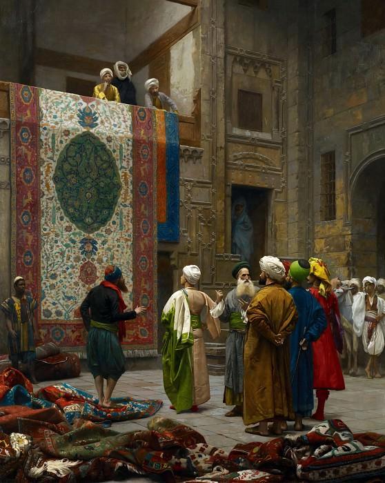 The Carpet Merchant. Jean-Léon Gérôme
