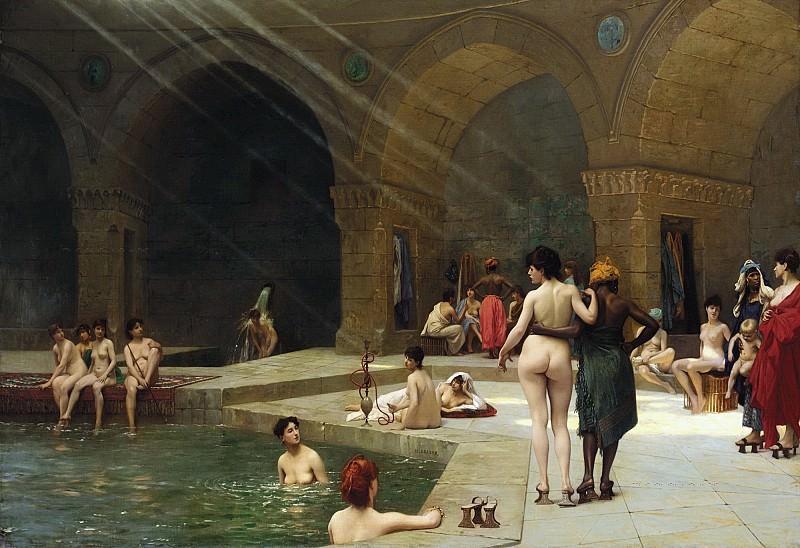 The Great Bath at Bursa. Jean-Léon Gérôme