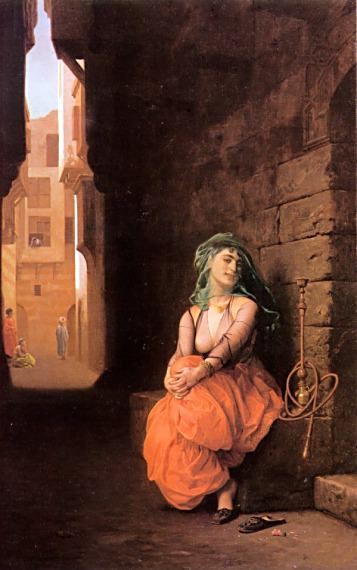Arab Girl with Waterpipe. Jean-Léon Gérôme