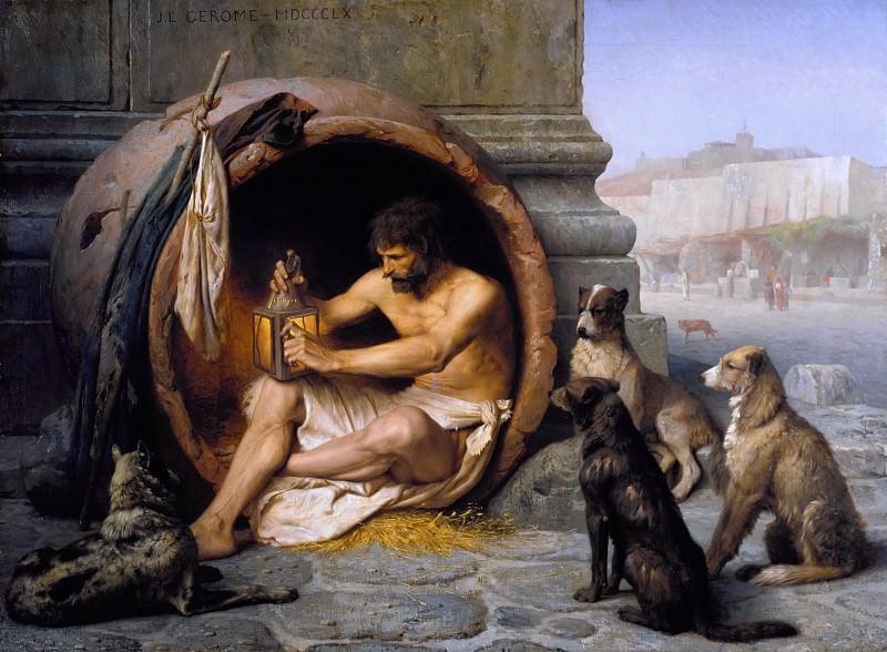 Diogenes. Jean-Léon Gérôme