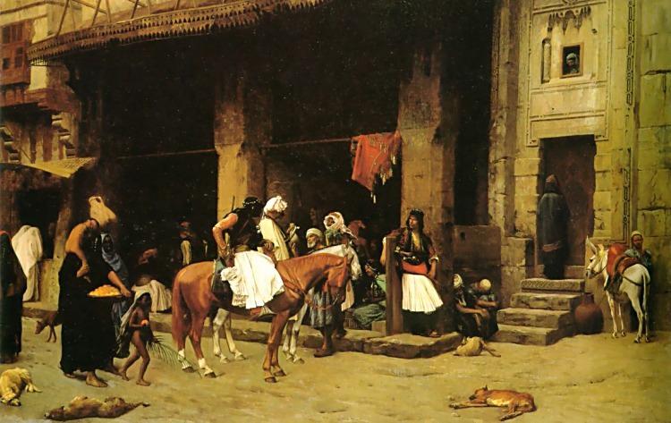 A Street Scene in Cairo. Jean-Léon Gérôme