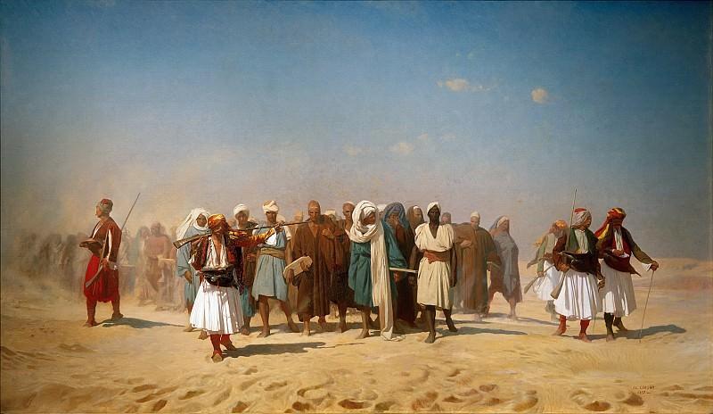 Egyptian Recruits crossing the Desert. Jean-Léon Gérôme
