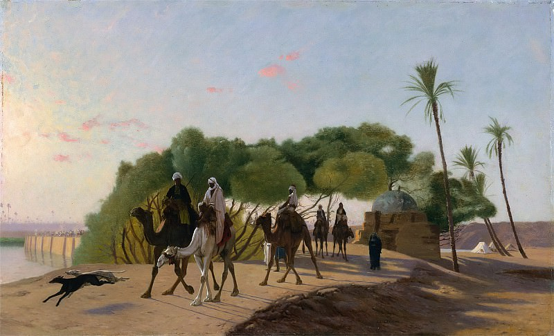Leaving the Oasis. Jean-Léon Gérôme