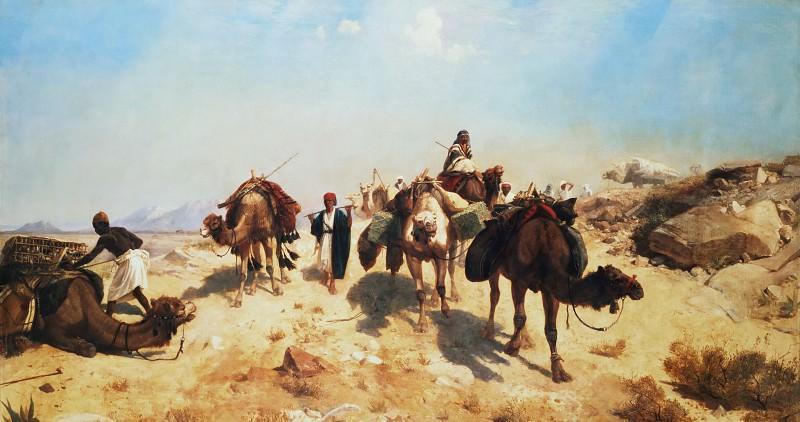 Караван в пустыне. Жан-Леон Жером