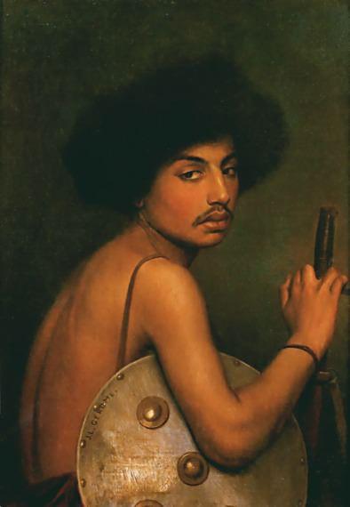 Bisharin Warrior. Jean-Léon Gérôme
