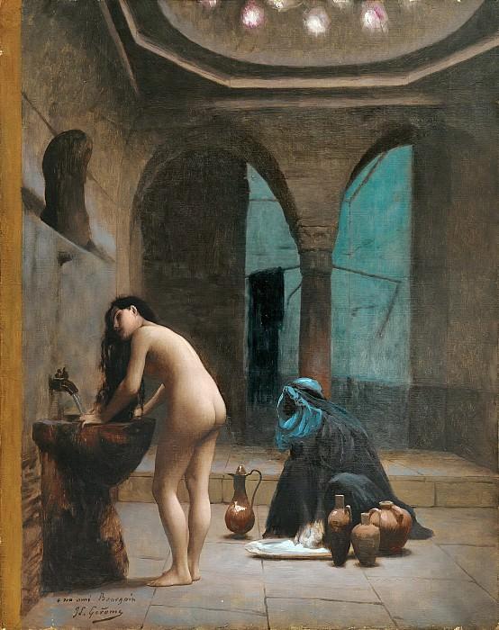 FEMME TURQUE AU BAIN. Jean-Léon Gérôme