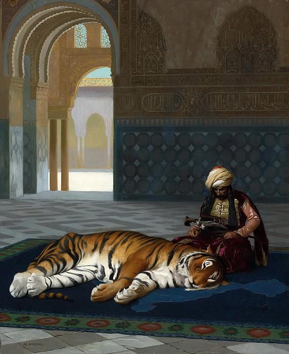 Тигр и стражник. Жан-Леон Жером