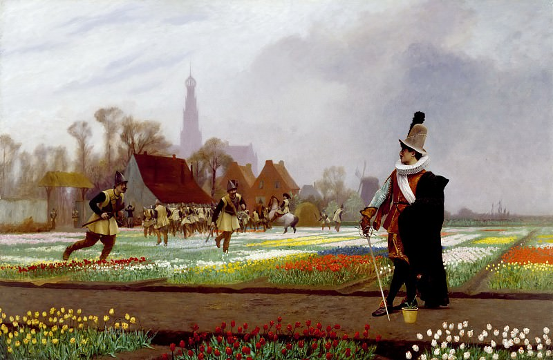 The Tulip Folly. Jean-Léon Gérôme