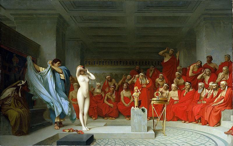 Phryne before the Areopagus. Jean-Léon Gérôme