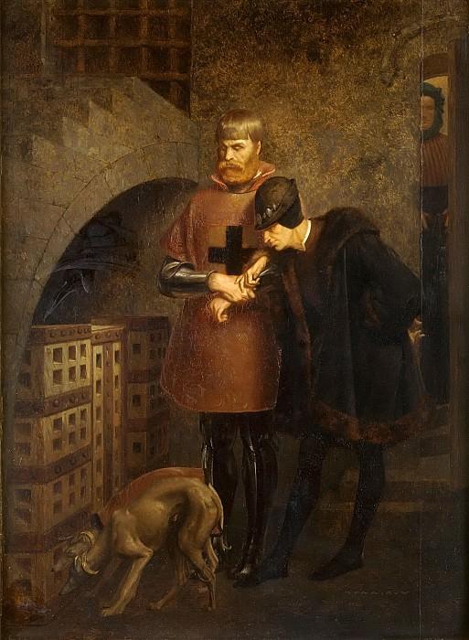 Louis XI visitant le Cardinal La Balue. Jean-Léon Gérôme