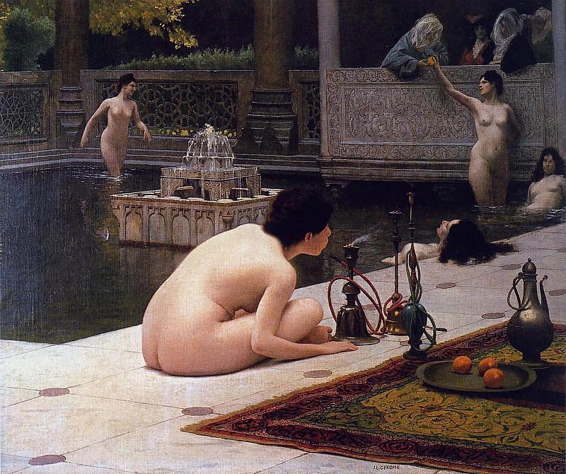 El mechero de Hookah. Jean-Léon Gérôme
