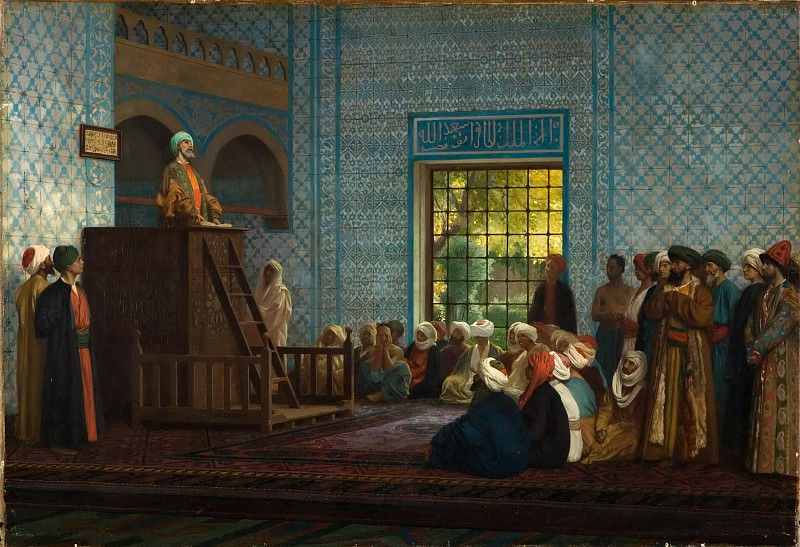 Sermon in the Mosque (Predication dans la Mosquee). Jean-Léon Gérôme