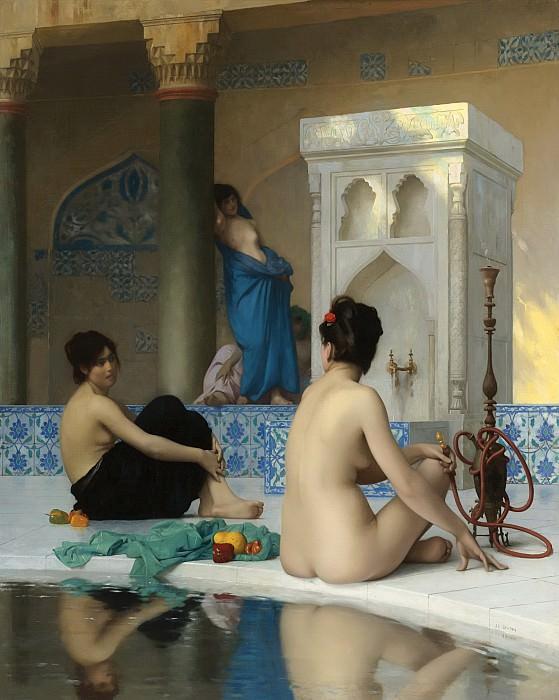 AFTER THE BATHSOLD. Jean-Léon Gérôme