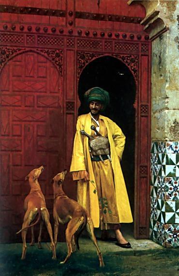 An Arab and his Dog. Jean-Léon Gérôme