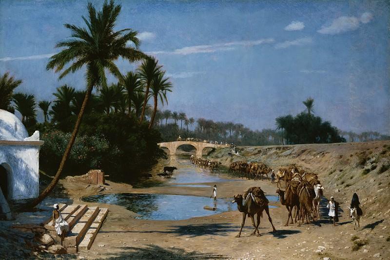 The Caravan. Jean-Léon Gérôme
