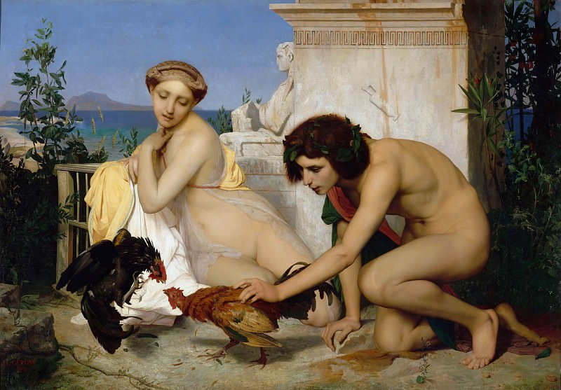 The Cockfight. Jean-Léon Gérôme