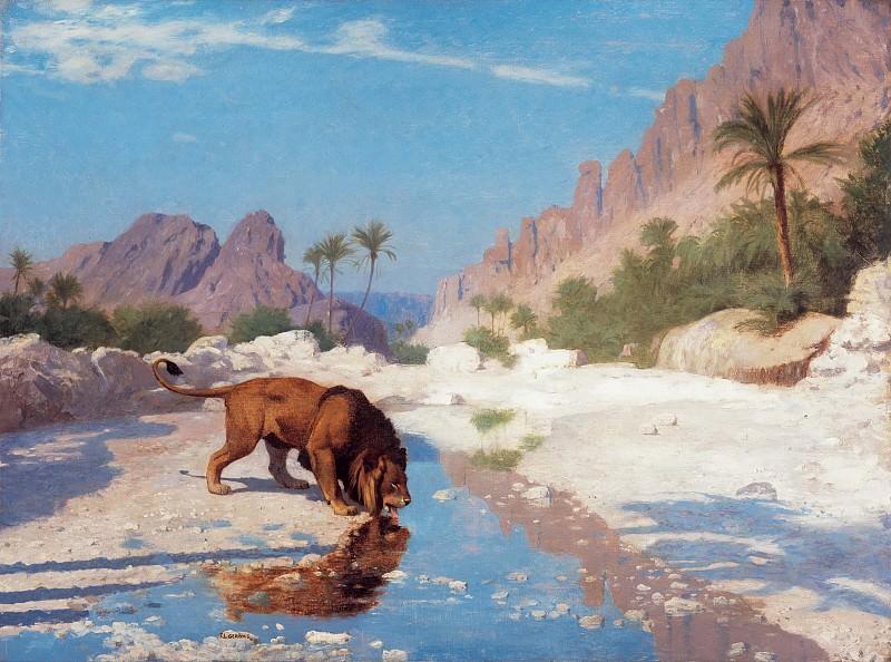 Lion in the Desert. Jean-Léon Gérôme