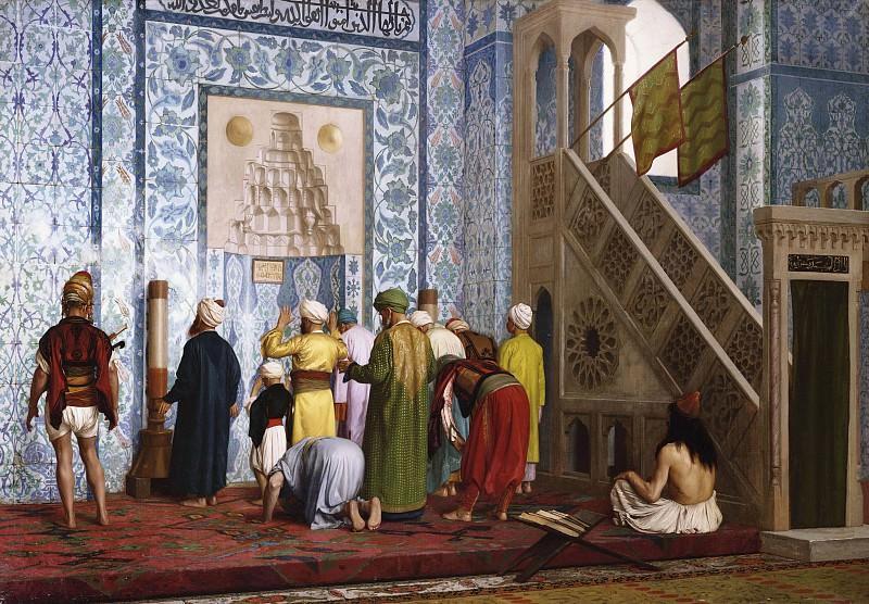 The Blue Mosque. Jean-Léon Gérôme