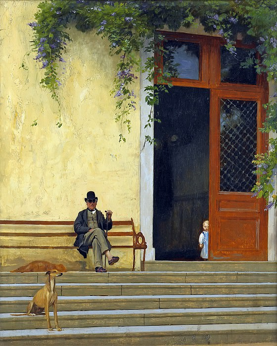 The artist s father in front of the house. Jean-Léon Gérôme