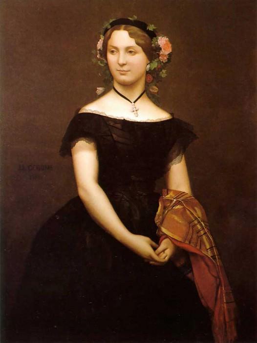 Portrait of Mlle Durand. Jean-Léon Gérôme