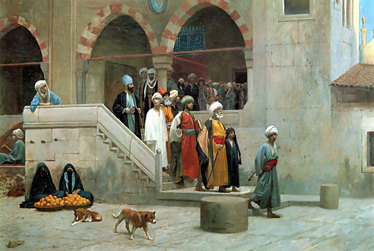 Leaving the Mosque. Jean-Léon Gérôme