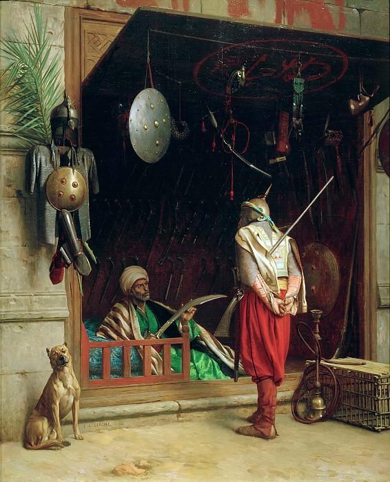 A Merchant weapons in Cairo. Jean-Léon Gérôme