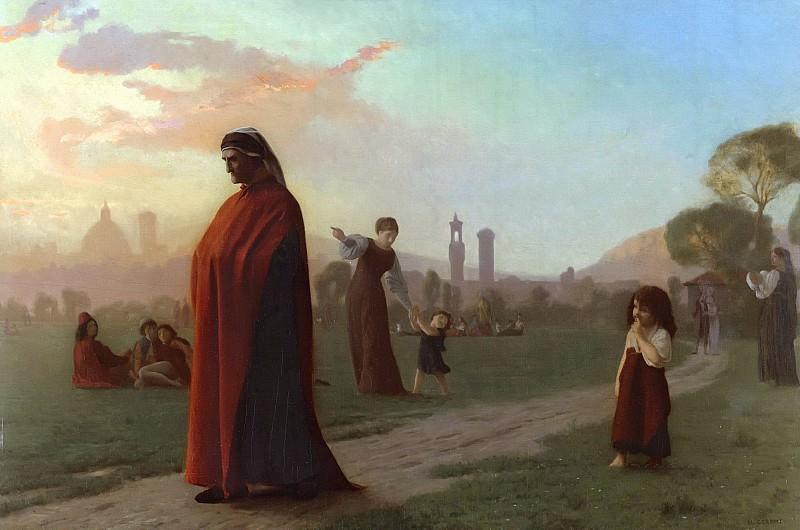 Dante. Jean-Léon Gérôme