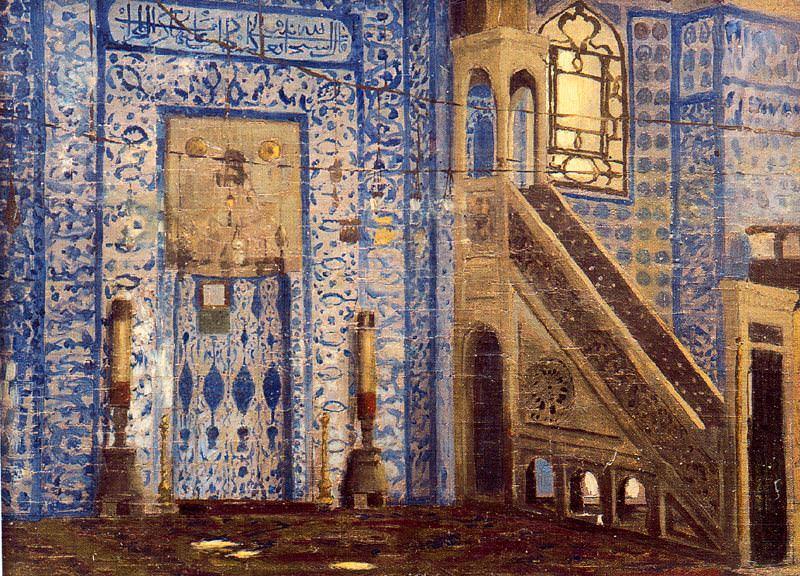 RÜSTEM PASHA MOSQUE, ISTANBUL (sketch). Jean-Léon Gérôme