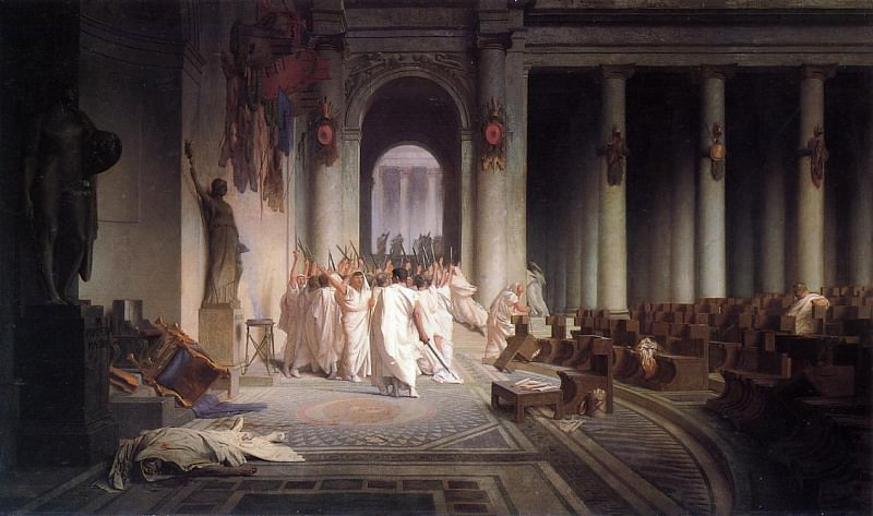 The Death of Caesar. Jean-Léon Gérôme