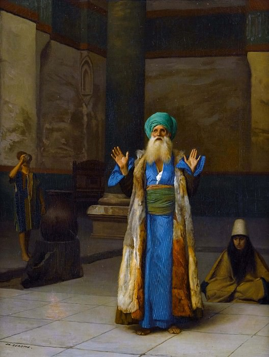 Persian Sultan in prayer. Jean-Léon Gérôme