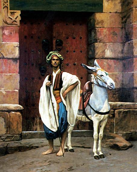 Egyptian and his Donkey. Jean-Léon Gérôme