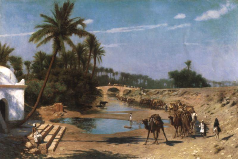 An Arab Caravan. Jean-Léon Gérôme